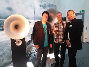 With Armin Krauss and Holger Fromme before listening to the RM