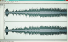 Stereo wave display of the Cd